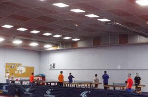 Éclairage LED clubs de tennis de table de Roanne