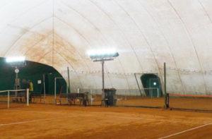 Eclairage LED tennis club Menil d'Asnières