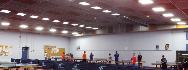 Éclairage LED clubs de tennis de table de Roanne