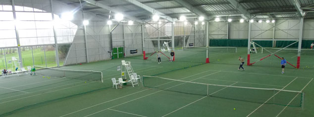 Éclairage LED Projectio Sports - Ligue de Normandie de tennis